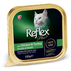 Reflex - Reflex Plus Tavuk ve Hindi Etli Pate Ezme Kedi Yaş Maması 100 Gr