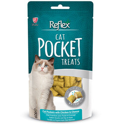 Reflex - Reflex Pocket Tavuk Eti ve Peynirli Kedi Ödülü 60 Gr