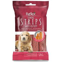 Reflex - Reflex Strips Biftek Puppy Şerit Çiğneme Yavru Köpek Ödülü 120 Gr