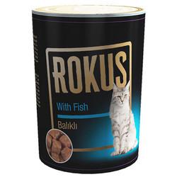 Rokus - Rokus Adult Cat Balıklı Kedi Konservesi 410 Gr