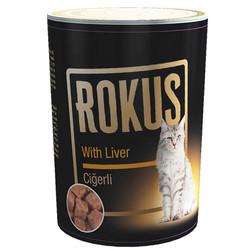 Rokus - Rokus Adult Cat Ciğerli Kedi Konservesi 410 Gr
