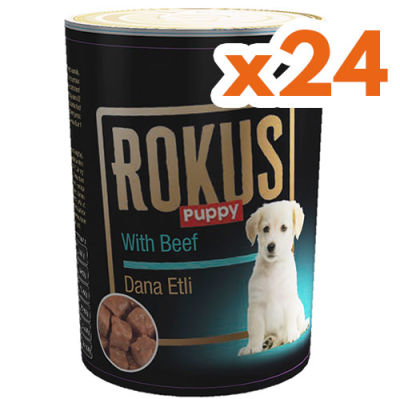 Rokus Puppy Etli Yavru Köpek Maması 410 Gr - (24 Adet x 410 Gr)