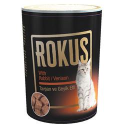 Rokus - Rokus Tavşan ve Geyik Etli Kedi Konservesi 410 Gr