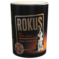 Rokus - Rokus Tavşan ve Geyik Etli Köpek Konservesi 410 Gr