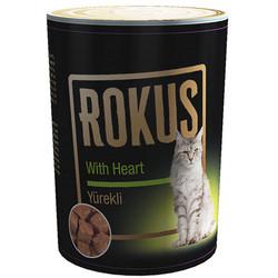 Rokus - Rokus Yürek ve Et Parçalı Kedi Konservesi 410 Gr