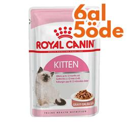 Royal Canin - Royal Canin Gravy Kitten Instinctive Yaş Yavru Kedi Maması 85 Gr - 6 Al 5 Öde