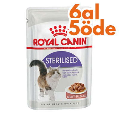 Royal Canin Gravy Sterilised Kısırlaştırılmış Yaş Kedi Maması 85 Gr - 6 Al 5 Öde