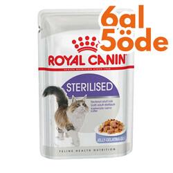 Royal Canin - Royal Canin Jelly Sterilised Kısırlaştırılmış Yaş Kedi Maması 85 Gr - 6 Al 5 Öde