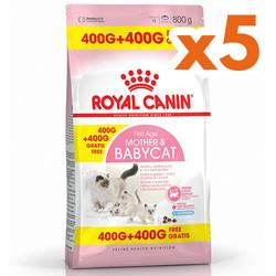 Royal Canin - Royal Canin Mother&Babycat Yavru Kedi Maması 400+400 Grx5 Adet (Toplam 4 Kg)
