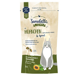 Sanabelle - Sanabelle Crispies Tavuk Etli ve Ispanaklı Kedi Ödülü 55 Gr