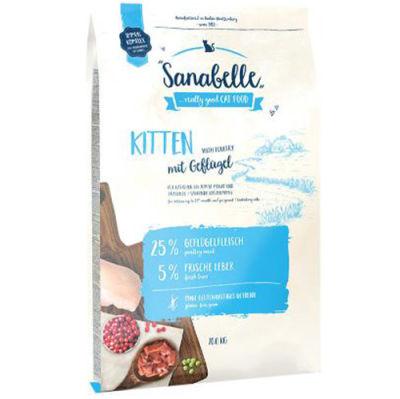 Sanabelle Kitten Yavru Kedi Maması 10 Kg + 10 Adet Temizlik Mendili