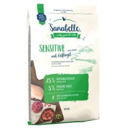 Sanabelle - Sanabelle Sensitive Poultry Kedi Maması 10 Kg + 10 Adet Temizlik Mendili