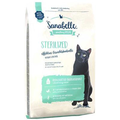 Sanabelle Sterilised Kısırlaştırılmış Tahılsız Kedi Maması 2 Kg + 5 Adet Temizlik Mendili