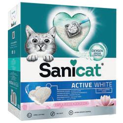 SaniCat - Sanicat Active White Lotus Flower Ultra Topaklanan Oxygen Control Kedi Kumu 6 Lt