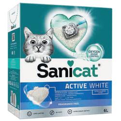 SaniCat - Sanicat Active White Ultra Topaklanan Oksijen Control Kedi Kumu 6 Lt