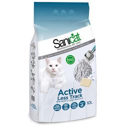 SaniCat - SaniCat Aktive (Active) Patilere Yapışmayan Kalın Taneli Kedi Kumu 10 Lt