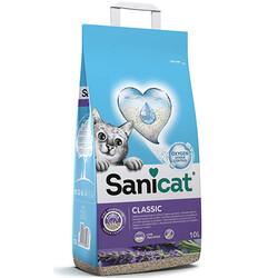 SaniCat - Sanicat Classic Lavantalı Oksiyen Kontrollü Topaklanan Kedi Kumu 10 Lt
