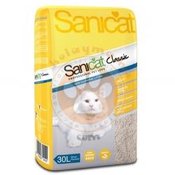 SaniCat - SaniCat Classic Ultra Absorbent Doğal Emici Kedi Kumu 30 Lt