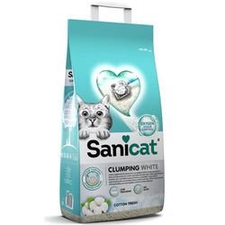 SaniCat - Sanicat Clumping White Cotton Fresh Oksijen Kontrol Kedi Kumu 10 Lt