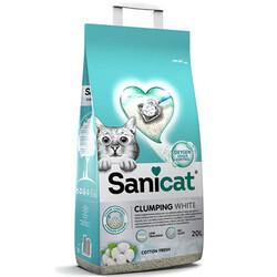 SaniCat - Sanicat Clumping White Cotton Fresh Oksijen Kontrol Kedi Kumu 20 Lt