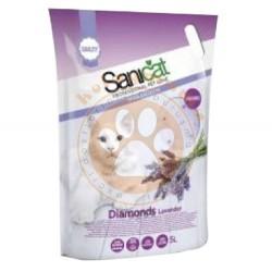 SaniCat - Sanicat Diamonds Lavanta Aromalı Silika Kedi Kumu 5 Lt