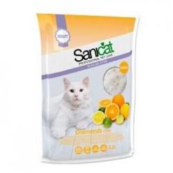 SaniCat - Sanicat Diamonds Limon Portakal Aromalı Silika Kedi Kumu 5 Lt