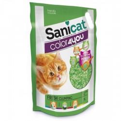 SaniCat - Sanicat Green Fresh Parfümlü Topaklanan Silika Kedi Kumu 5 Lt