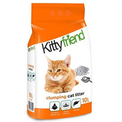 SaniCat - Sanicat Kitty Friend Naturel Topaklanan Kedi Kumu 10 Lt