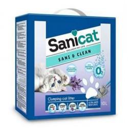 SaniCat - Sanicat Sani&Clean Topaklanan Lavantalı Kedi Kumu 10 Lt