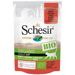Schesir - Schesir Bio Organic Pouch Adult Biftekli Kedi Yaş Maması 85 Gr