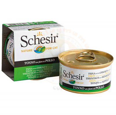 Schesir C137 Jelly Ton Balıklı ve Tavuk Jöleli Kedi Konservesi 85 Gr