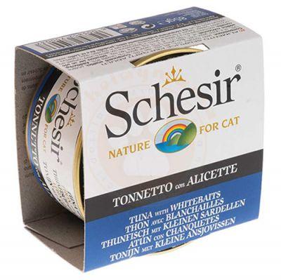 Schesir C139 Jelly Ton ve Ringa Balıklı Kedi Konservesi 85 Gr