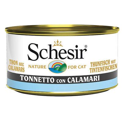 Schesir C271 Ton Balıklı Kalamarlı Jöleli Kedi Konservesi 85 Gr