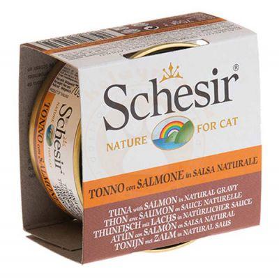 Schesir C3001 Ton Balıklı ve Somonlu Soslu Tahılsız Kedi Konservesi 70 Gr