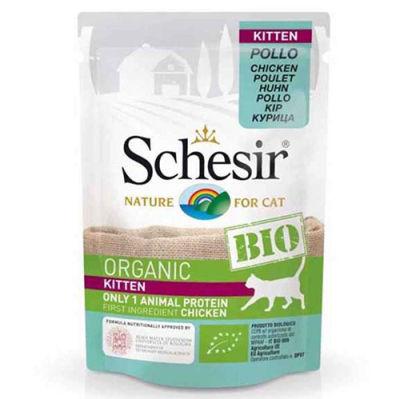 Schesir C450 Bio Organic Pouch Kitten Tavuk Etli Kedi Yaş Maması 85 Gr
