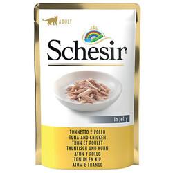 Schesir - Schesir C561 Pouch Jelly Ton Balıklı ve Tavuklu Kıyılmış Kedi Yaş Maması 85 Gr