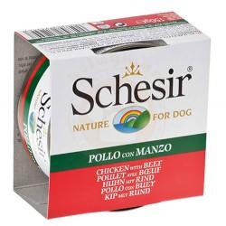 Schesir - Schesir C682 Jelly Tavuk Etli ve Sığır Etli Fileto Köpek Konservesi 150 Gr