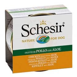 Schesir - Schesir C684 Jelly Tavuklu ve Aloe Veralı Köpek Konservesi 150 Gr