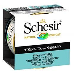 Schesir - Schesir C190 Jelly Tuna ve Barlam Balıklı Kedi Konservesi 85 Gr
