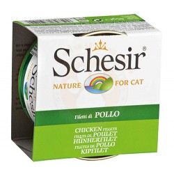 Schesir - Schesir C160 Pollo Jelly Tavuk Fileto Kedi Konservesi 85 Gr