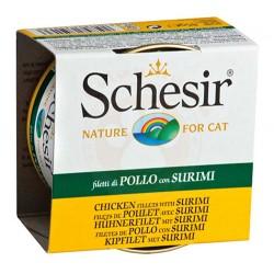 Schesir - Schesir C161 Yengeç Etli ve Tavuk Fileto Jöleli Kedi Konservesi 85 Gr