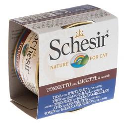 Schesir - Schesir C177 Ton Balıklı, Ringa Balıklı ve Pirinçli Kedi Konservesi 85 Gr