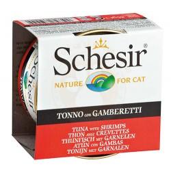 Schesir - Schesir C138 Jelly Ton Balıklı ve Karidesli Jöleli Kedi Konservesi 85 Gr