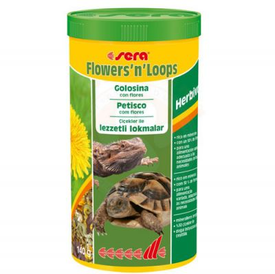Sera 1900 Flowers n Loops Lezzetli Kaplumbağa ve Sürüngen Yemi 1000 ML