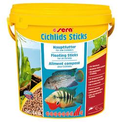 Sera - Sera Cichlids Sticks Renksiz Balık Kova Yemi 10 Lt (2 Kg)