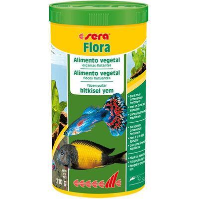 Sera Flora Bitkisel Pul Balık Yemi 1000 ML ( 210 Gr )