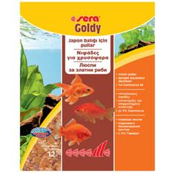 Sera - Sera 0832 Goldy Japon ve Havuz Balıkları İçin Pul Balık Yemi 12 Gr