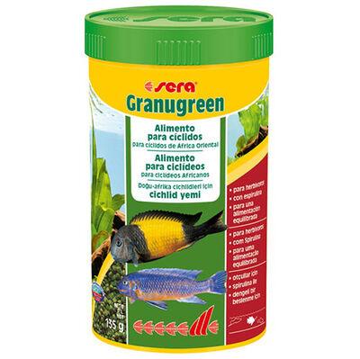 Sera Granugreen Bitkisel Kökenli Yeşil Renkli Granül Yem 250 ML ( 135 Gr )