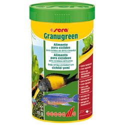 Sera - Sera Granugreen Bitkisel Kökenli Yeşil Renkli Granül Yem 250 ML (135 Gr)