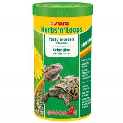 Sera 1905 Herbs n Loops Lezzetli Kaplumbağa ve Sürüngen Yemi 1000 ML